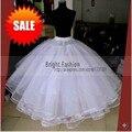 Vestido Longo Hot Sale 2016 Jupon Crinolina Anágua 6 Camadas de Branco Para Vestido de Noiva Hoop Saia Acessórios Do Casamento Para A Noiva