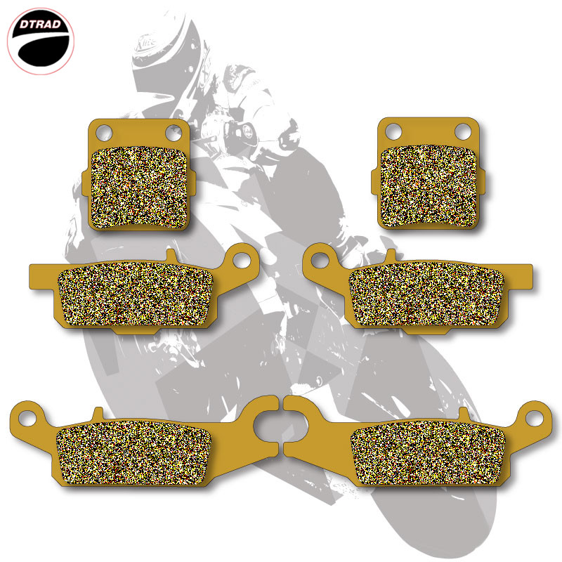 Motorcycle Brake Pads Front+Rear For YAMAHA ATV RAPTOR 250 R / YFM 250 R 2008-2012 mfs motor motorcycle part front rear brake discs rotor for yamaha yzf r6 2003 2004 2005 yzfr6 03 04 05 gold