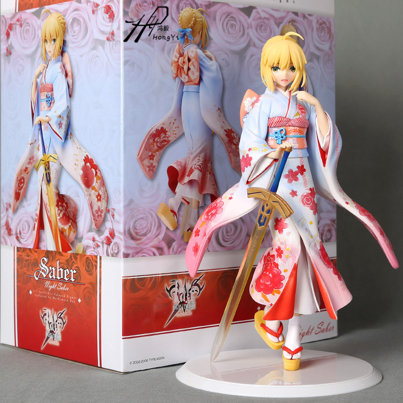 Aniplex Fate/Stay night Saber Kimono ver. 1/7 Scale PVC Painted Figure Collectible Model Toy zy561