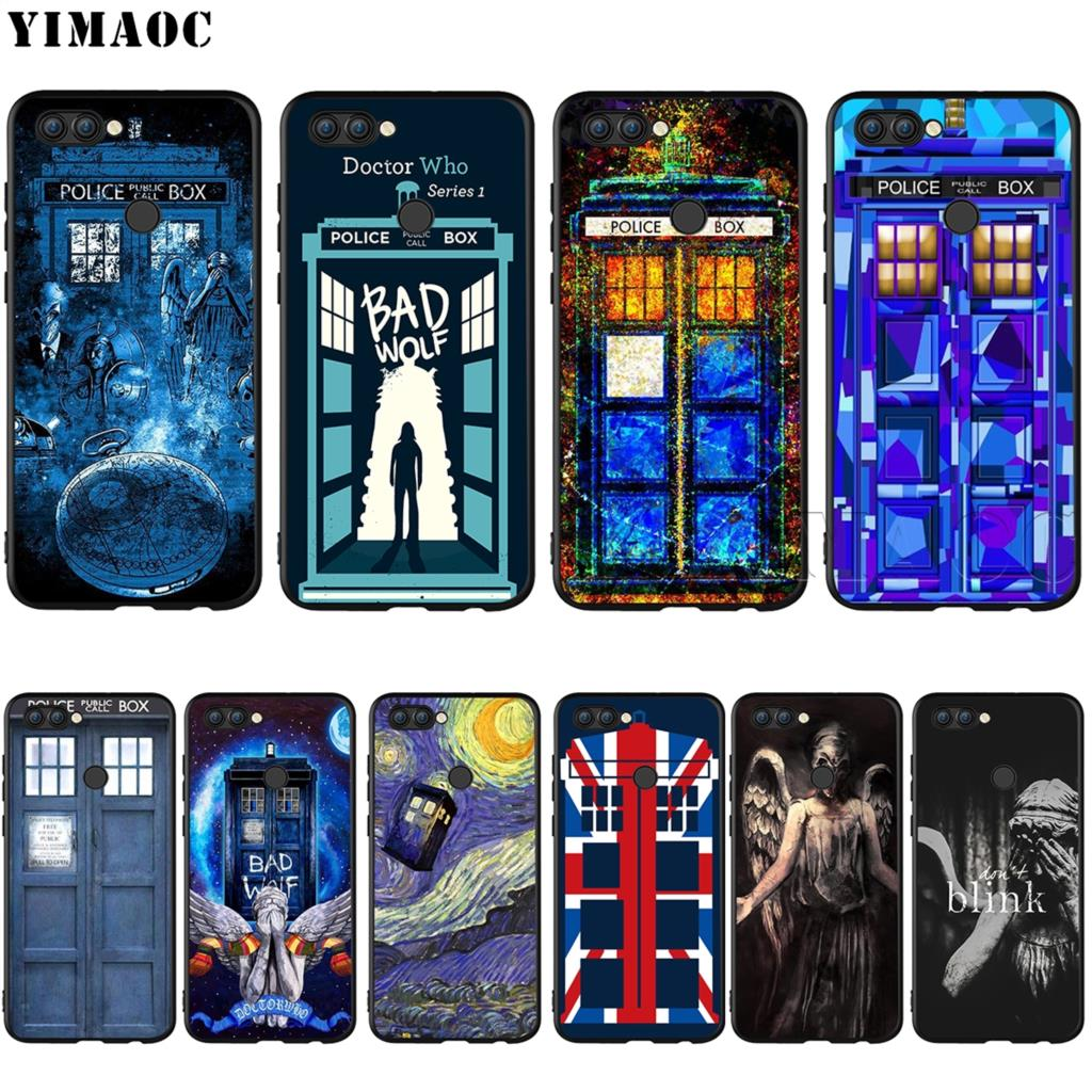 Cooperative Yimaoc Tardis Box Doctor Who Silicone Case For Huawei Mate 10 P8 P9 P10 P20 Lite Pro P Smart Mini 2017 Profit Small Phone Bags & Cases