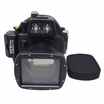 Mcoplus 40 m/130ft Cámara impermeable submarina funda carcasa para Canon EOS M 18-55mm lente