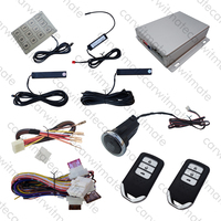 Smart Key PKE Car Alarm System Long Push Button Remote Start Stop Engine Automatic Windows Close Output Hopping Code