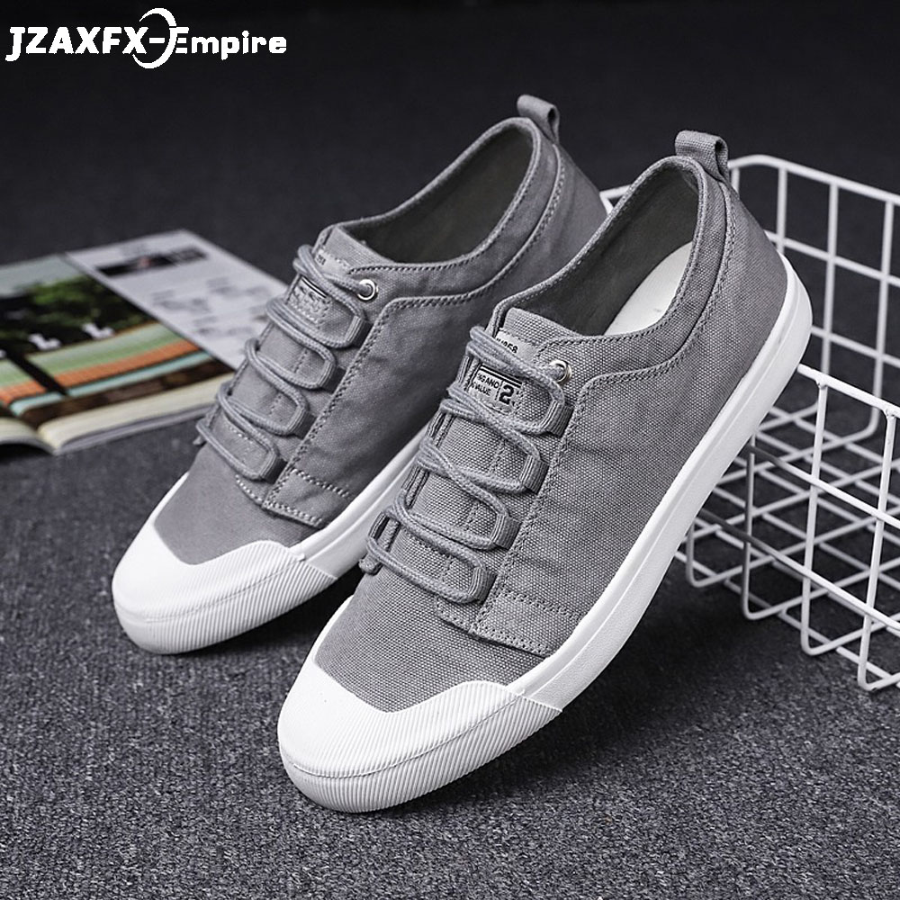 2019 Men Flat Shoes Lace-up Casual Shoes Tenis Masculino Adulto Summer Footwear Zapatos De Hombre Canvas Shoes