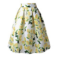 Skirts Womens Retro Midi High-Waist Pleated Jupe A-Line Umbrella Above-Knee  Saias Femininas Korea Style jupe femme hiver 2016