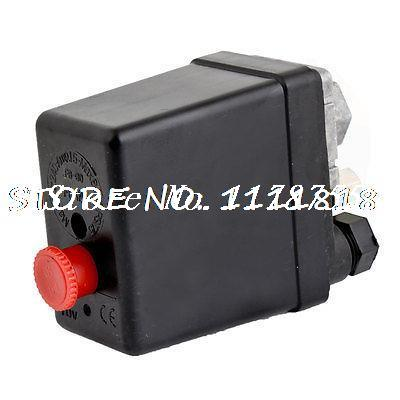 240V 15A 12 Bar PSi 175 Red Button Air Compressor Pressure Control Switch vertical type replacement part 1 port spdt air compressor pump pressure on off knob switch control valve 80 115 psi ac220 240v