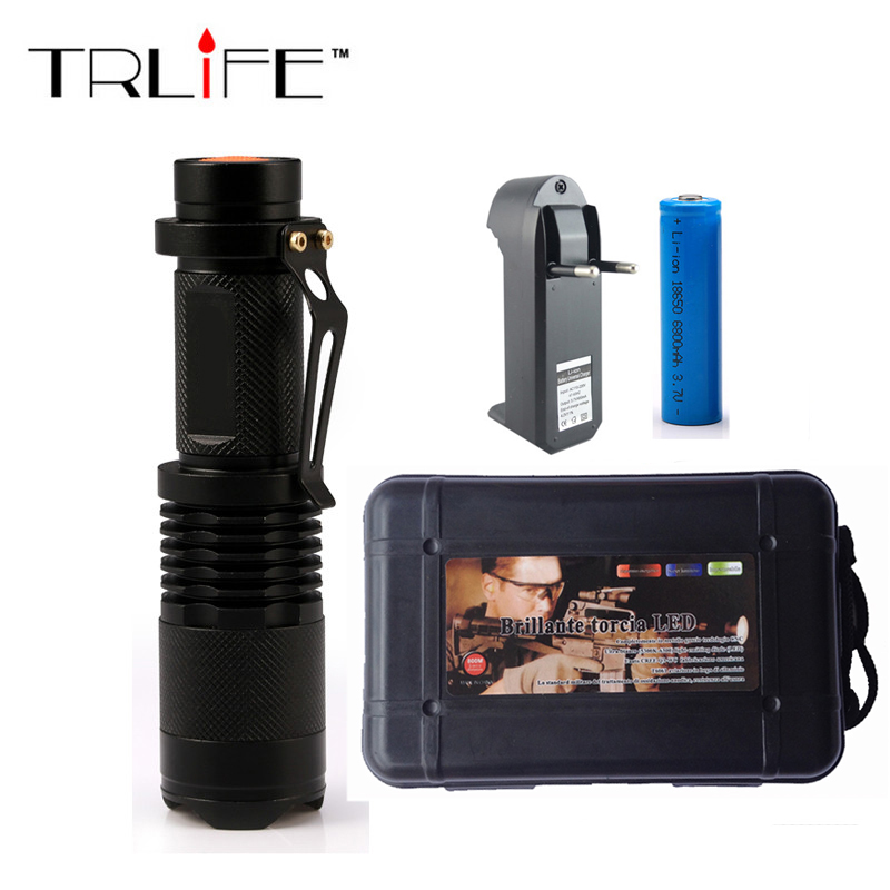 3Modes Flashlight Led Torch CREE XM-L Q5 Led Flashlight 14500 Torch Rechargeable With Charger Linternas Powerful Lights e17 cree xm l t6 2400lumens led flashlight torch adjustable led flashlight torch light flashlight torch rechargeable