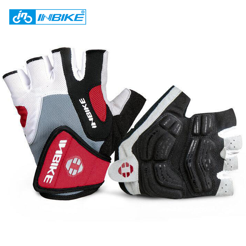 INBIKE Shockproof GEL Pad Cycling Gloves Half Finger Sport Gloves Men Women Summer Bicycle Gym Fitness Gloves MTB Bike Gloves