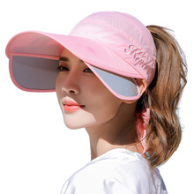 Size adjustable Double bag ladies UV riding sunglasses outdoor sports sun hat female summer empty top beach