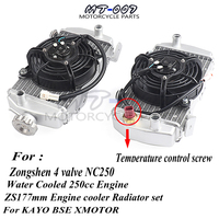 Motorcycle Zongshen 4 valve NC250 water cooled 250cc engine radiator xmotos apollo water box with fan accessories For KAYO BSE