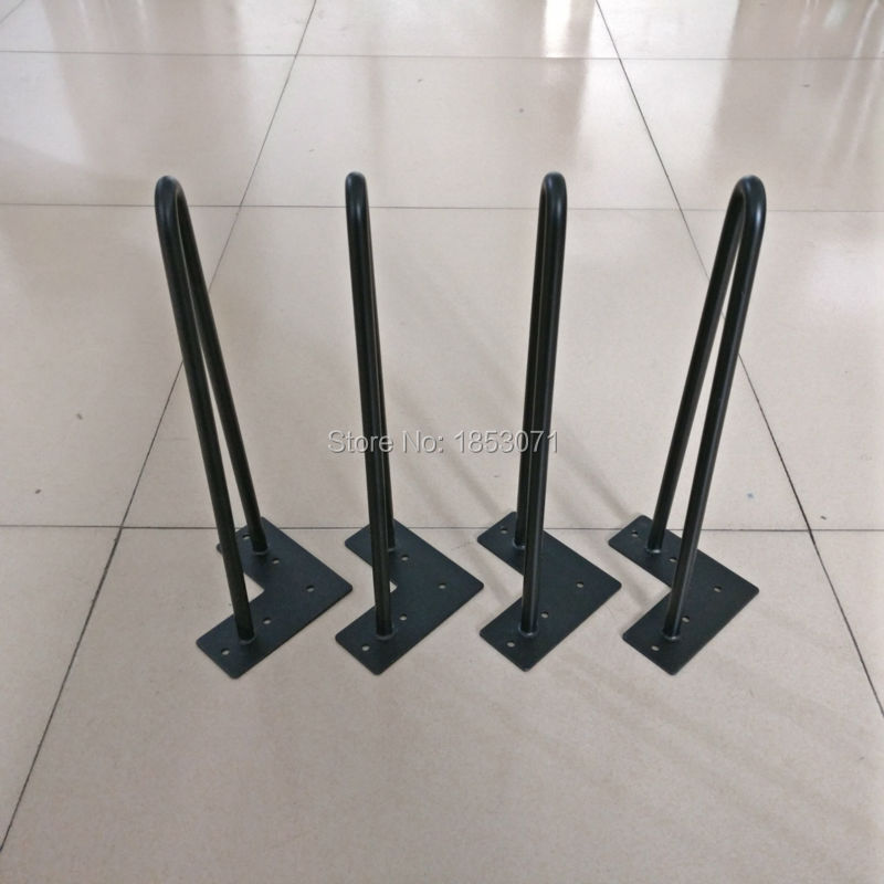 Free shipping -14teapoy legs-matte black- 1/2 steel rod-set of 4-Tea Table hairpin legs,coffee table legs metal tabel legs free shipping 36cm coffee table hairpins 1 2 solid metal bar hairpin table legs set of 4 4pcs