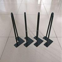 Free Shipping 14 Teapoy Legs Matte Black 1 2 Steel Rod Set Of 4 Tea Table