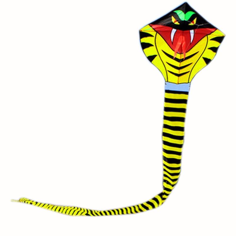 Professionel 30m Power / Kæmpe Cobra Kite / Animal Kites / Snake Kite With Handle & Line Good Flying