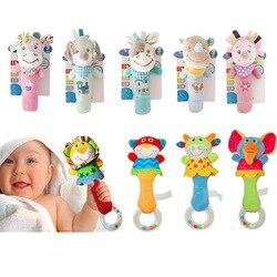 Детская игрушка 0-12 месяцев, милые погремушки с животными, игрушки для малышей, новорожденных Развивающие игрушки для младенцев, плюшевые по...