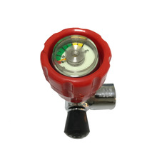 New PCP rifle valve Red Gauged Paintball Valve SCBA for Compressed Air Carbon Fiber Cylinder Softgun Acecare AC911-H