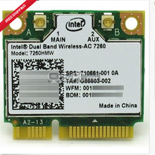 Высокое Качество Intel Dual-Band Wireless-AC 7260 ac7260 7260HMW AC 7260 802.11ac MINI PCI-E Карты WiFi 2.4 Г/5 Г Bluetooth 4.0