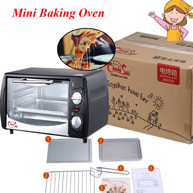 Household Mini Baking Oven 12L Stainless Steel Electric Glass Oven Cake Toaster Kitchen Appliances CS1201AHousehold Mini Baking Oven 12L Stainless Steel Electric Glass Oven Cake Toaster Kitchen Appliances CS1201A
