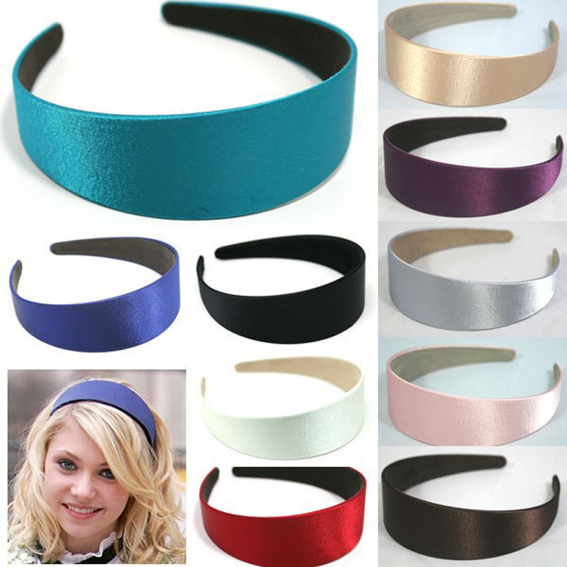7 colors WIDE PLASTIC HEADBAND HAIR BAND ACCESSORY WHOLESALE 5pcs/LOTS SATIN HEADWEAR hair clasp hair accessories 5 pcs leaf hair accessory