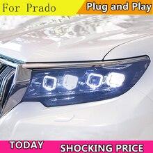 Doxa مصباح رأس السيارة لتويوتا برادو 2018 جميع مصابيح LED عالية شعاع LED شعاع منخفض مع إشارة بدوره الديناميكي