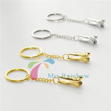 Dental 4Pcs Molar Shaped Tooth Keys Chain Mobile Phone Chain For Dentist Gift(China)