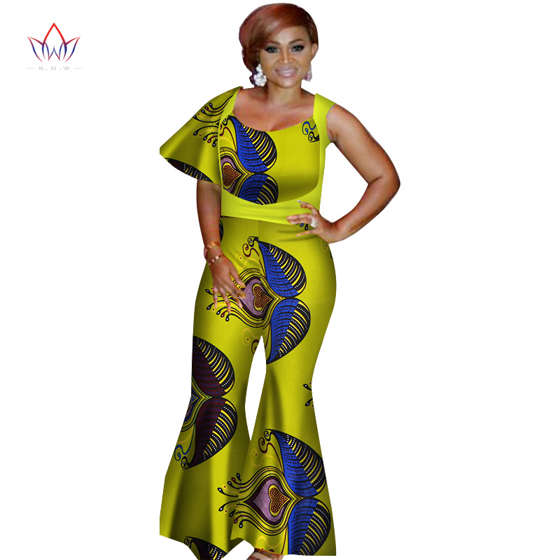 summer african women jumpersuit with print sexy overalls women jumpsuit elegant sleeveless dashiki pant plus size 5xl WY3138