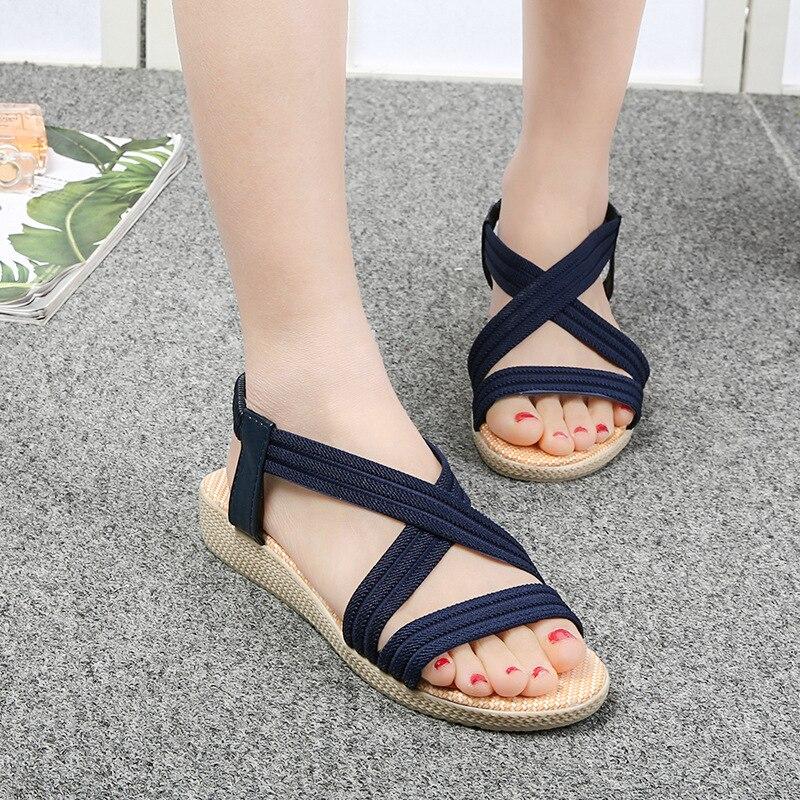 Flat Sandals Women Fashion Shoes Colorful Sea Side Beach