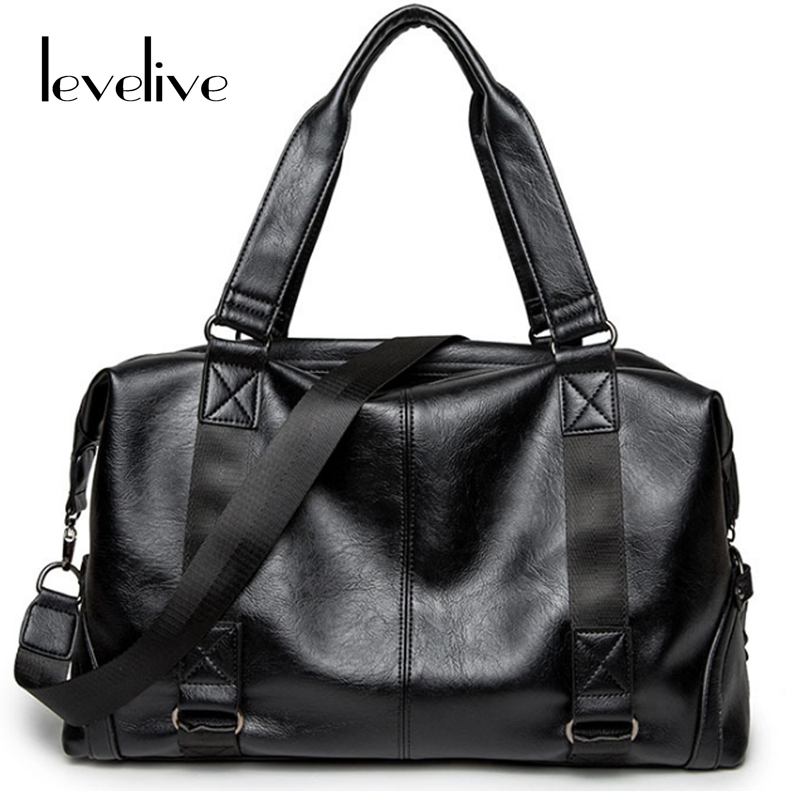 LEVELIVE Fashion Men Large Capacity Messenger Bag Brand Leather Travel Bag Men's Handbag Shoulder Crossbody Bags Male Hand Bag high quality authentic famous polo golf double clothing bag men travel golf shoes bag custom handbag large capacity45 26 34 cm