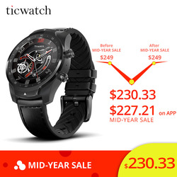 Originele Ticwatch Pro Sport Smart Horloge Bluetooth WIFI NFC Betalingen/Google Assistent Android Wear Smartwatch GPS IP68 Waterdicht
