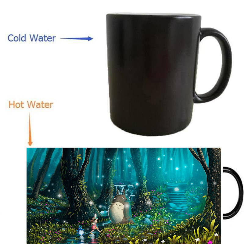 My Neighbor mugs heat reveal cups coffee mugs cold hot sensitive whisky Cup transforming porcelain tea cups