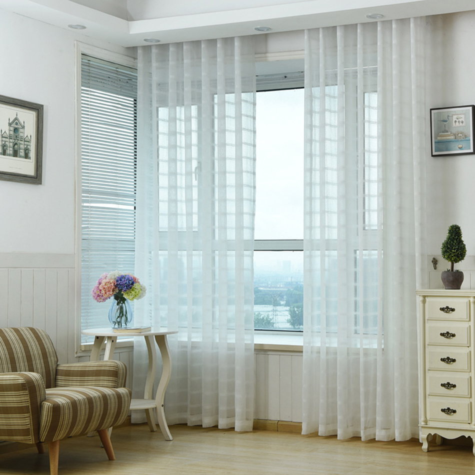 white blinds curtains for living room short kitchen cortinas ...