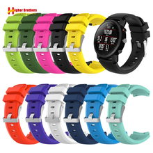 Replacement Smart Watch Strap for HUAMI Amazfit Stratos strap 22mm Band for Xiaomi Watch 1 2 Amazfit Silicone Watchband