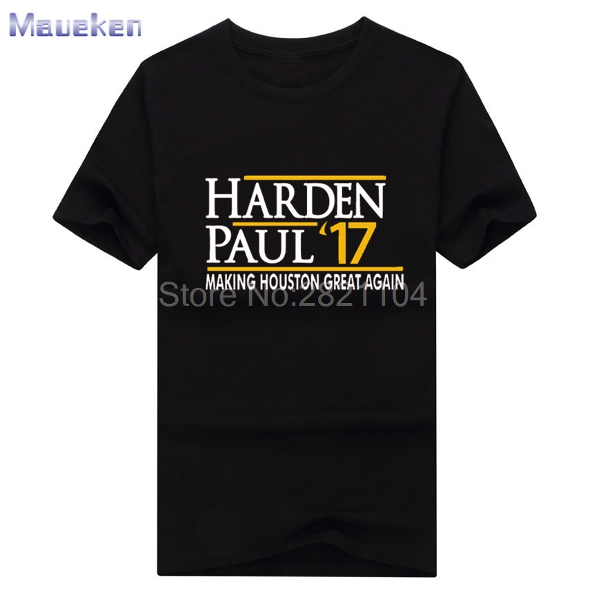 2017 summer Chris Paul CP3 James Harden make houston great again t shirt  100% cotton T Shirt Man casual for fans gift 0629 2-in T-Shirts from Men's  Clothing ...