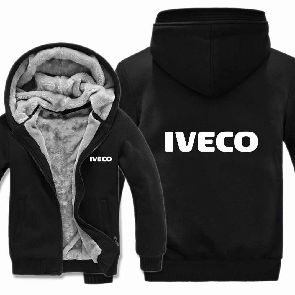 Iveco Trucks Hoodies Jacket Winter Pullover Man Coat Men Wool Liner Fleece Iveco Sweatshirts