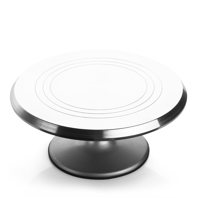 Creative Kitchen Accessories Decorative Aluminum Alloy Turntable Cake Baking Decorating Tool Turntable Frame Mode Rotary Table