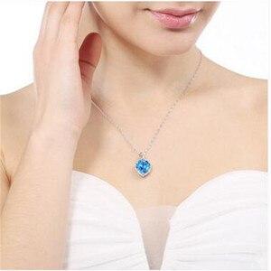 Image 5 - Coração ruby colar de prata esterlina s925, pingente vintage, joia fina para casamento e noivado