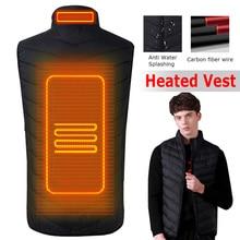 цена Upgraded Outdoor USB Men  Infrared Heating Vest Jacket Winter Carbon Fiber Electric Thermal Clothing Waistcoat онлайн в 2017 году