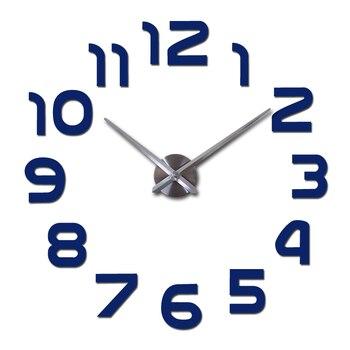 top fashion 3d wall clock reloj de pared quartz watch modern diy clocks living room large decorative horloge murale  stickers 11