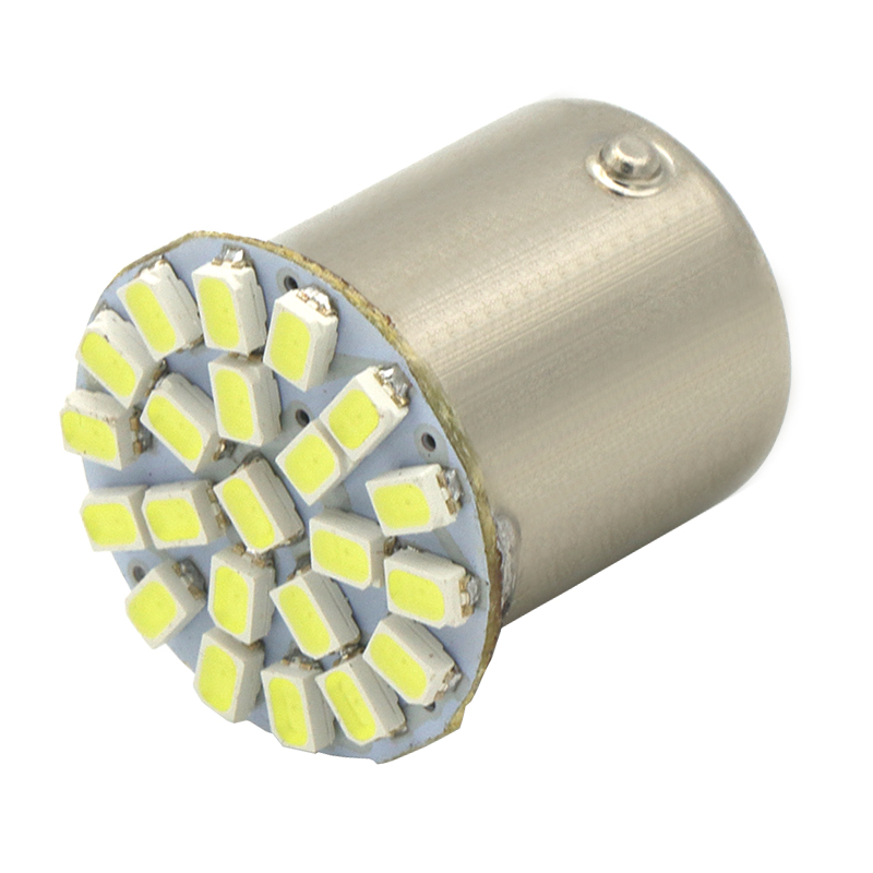 2Р 22SMD 1156 P21W BA15s из светодиодов Лампа автомобиль Автоматический фары передние стоп-сигналы, фонари поворотники Parrking лампы DC 12 в белый желтый