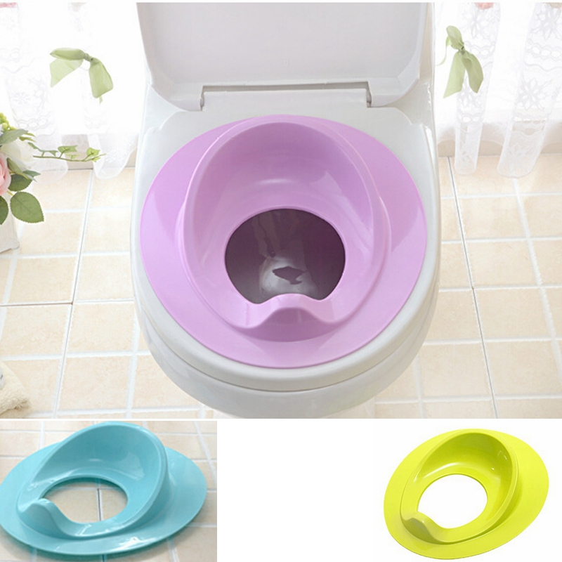 Plastic Children Portable Potty Training Seat Non-Slip Simple Pad To The Toilet For Kids Toddler Potty Sit Mat Blue Yellow