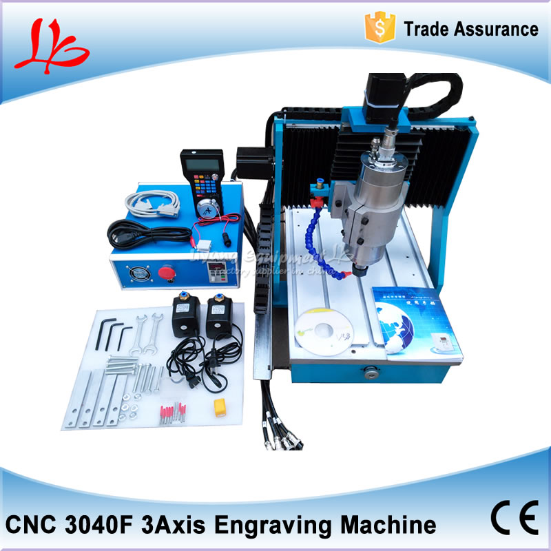 Free shipping CNC router 3040F Parallel Port 3 Axis cnc milling machine with 1500w spindle for metal wood plastic russia tax free cnc router 3040f 4 axis metal wood plastic cnc milling machine with water cooled spindle 1500w