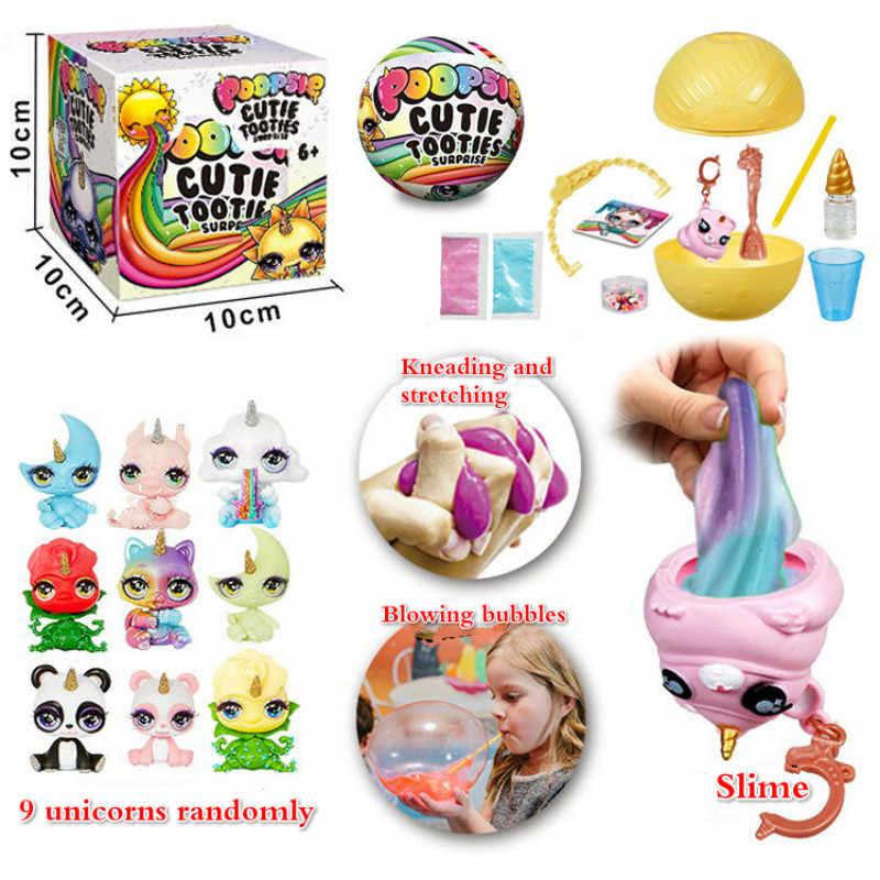 Poopsie スライムユニコーン笑ボール人形船尾女の子のおもちゃ趣味アクセサリースターまたは Oopsie スターライト発泡バブル粘土
