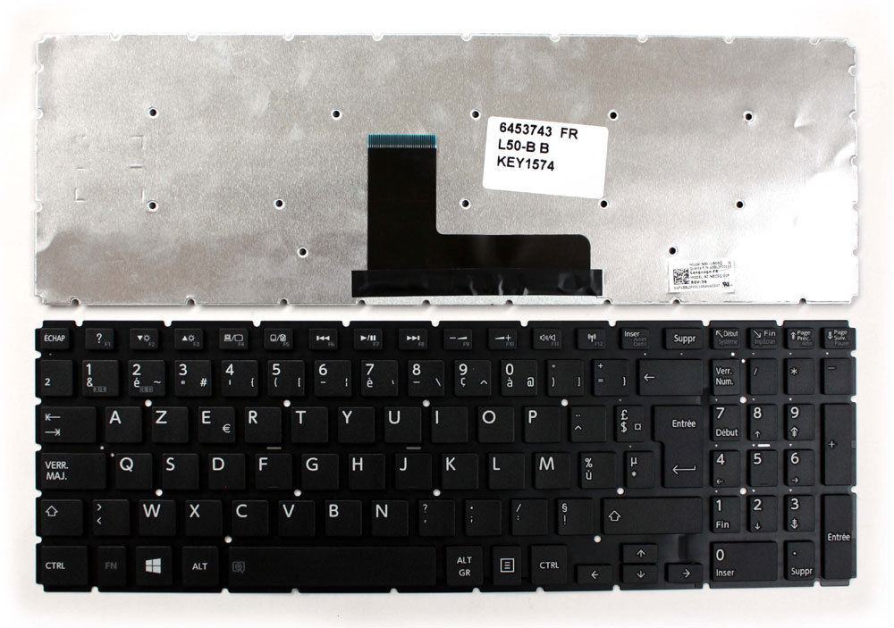 New Laptop keyboard for   Toshiba Satellite L50-B-120  French/fr  layout new laptop keyboard for toshiba satellite pro a200 a210 l300 l300d l50 a l510 m300 qwertz hungarian layout