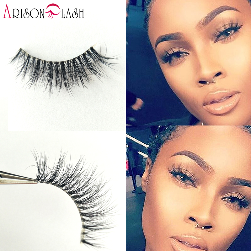 NEW Arison Cathy4 3D Mink Eyelashes Transparent Plastic Luxurious Thick fake eyelashes permanent False Full Strip