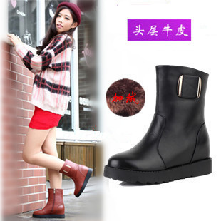 Women's shoes autumn and winter first layer of cowhide genuine leather boots boots fashion female martin boots flat boots