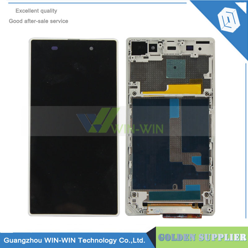Подробнее о 5pcs/lot Black/White For Sony Xperia Z1 Display With Frame L39H L39 C6902 C6903 Lcd Screen Assembly With Frame 10pcs lot aaa 5 black white lcd for sony xperia z1 l39h lcd display touch screen digitizer frame assembly l39 c6902 c6903 dhl