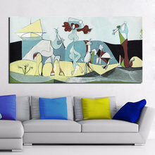 Pablo Picasso The Joy Of Living Wall Art Canvas Painting Posters Prints Modern Painting Wall Pictures For Living Room Home Decor