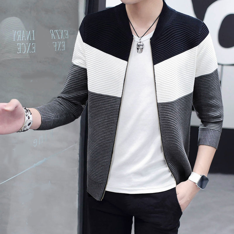 Buy Men Sweater Cardigan Zipper Fashion 2018 New Autumn Male Slim Thin