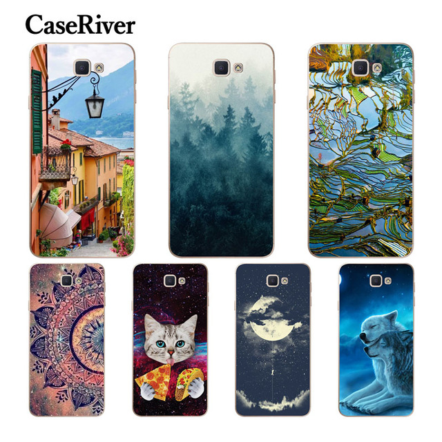 """CaseRiver For Samsung Galaxy J5 Prime 5.0"""" Phone Case, Soft Silicone Case Cover For Samsung J5 Prime G570 G570F SM-G570F Cases"""