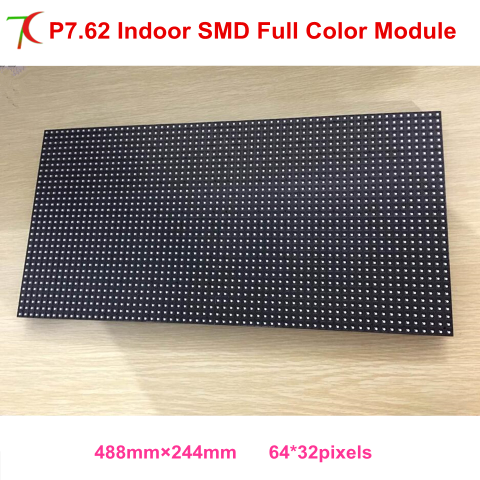 P7.62 Indoor Full Color Rgb Module Dot Matrix Panel SMD  Display Led Board Display Led Full Color Display