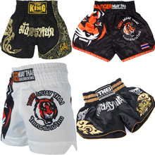 Muay thai boxing shorts Men's Printing Tiger MMA Boxing Short Grappling Martial Arts Trunks Kick Boxing Fight Adult Pants недорого
