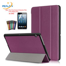 Slim PU Leather Magnet Smart fold Stand Case for Huawei MediaPad T3 10 AGS-L09 AGS-L03 9.6 inch Protective Stand Cover+film+pen(China)